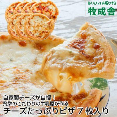 チーズたっぷりピザ盛りだくさん7枚セットの画像