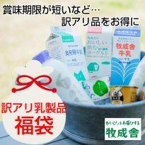 訳アリ乳製品福袋セットの販売を始めました